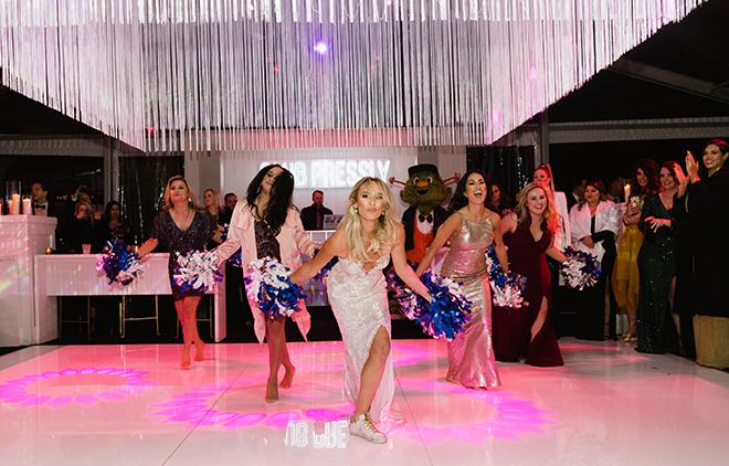 astros ryan pressly new year's eve wedding dallas cowboys cheerleaders tradition