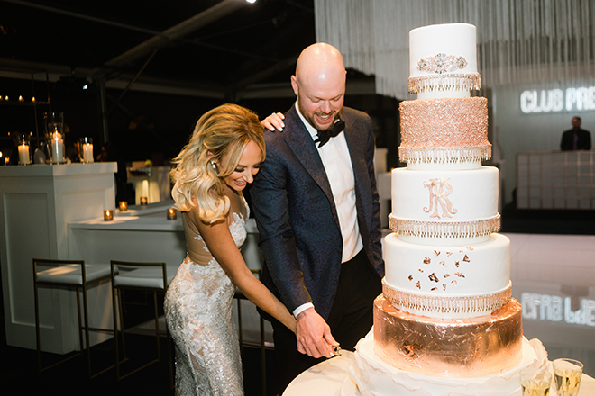 astros ryan pressly new year's eve wedding cutting the cake