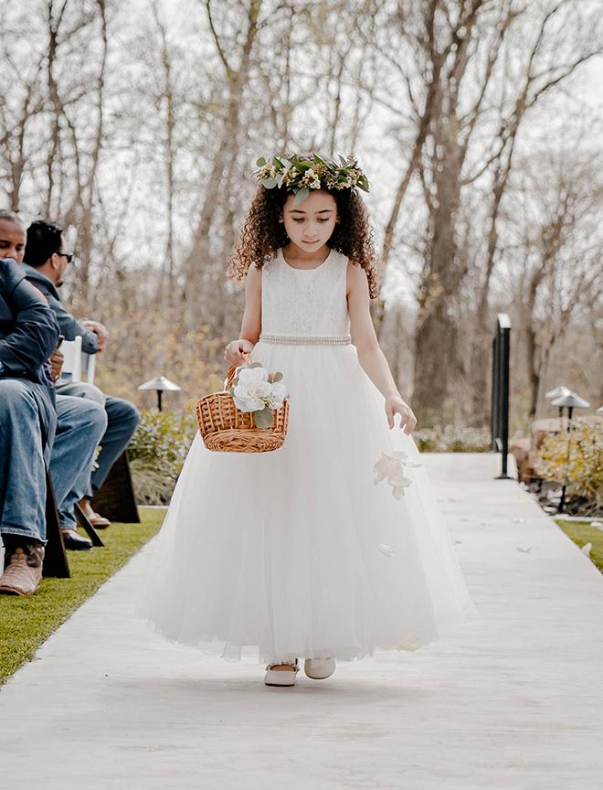 dusty rose, navy, blue, diy wedding, wedding photography, j ernest media, flower girl