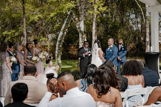 dusty rose, navy, blue, diy wedding, wedding photography, j. ernest media, outdoor ceremony