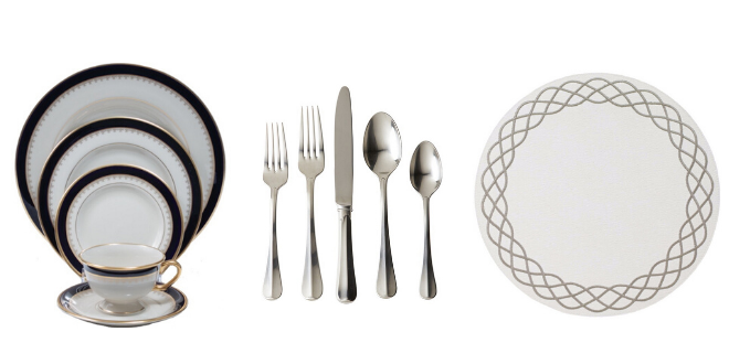 registry, gifts, wedding, dining room, table setting, linens, table, flatware, sets