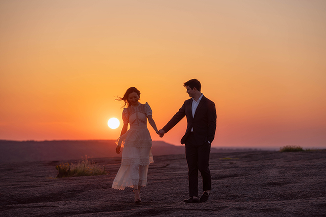 sunset, engagement, wedding, photography, hill country, houston, austin