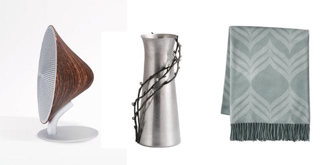 living room, registry, gifts, bering's, wedding, wireless speaker, vase, throw blanket