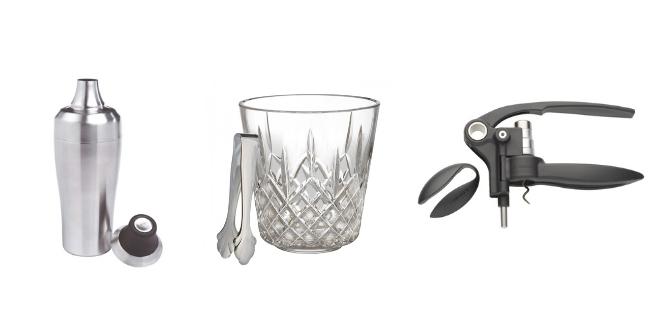 registry, gifts, wedding, bar, shaker, cocktails, ice bucket, corkscrew