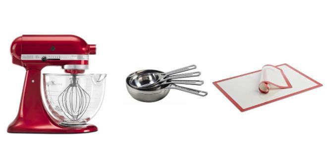 wedding registry, kitchen, bering's, crate&barrel, stand mixer, baking, measuring cups, pastry mat