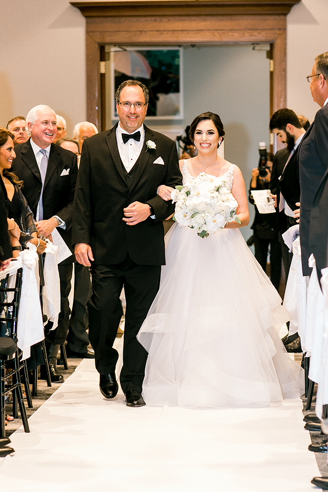 wedding photography, walk down the aisle, bride, father, giving away the bride