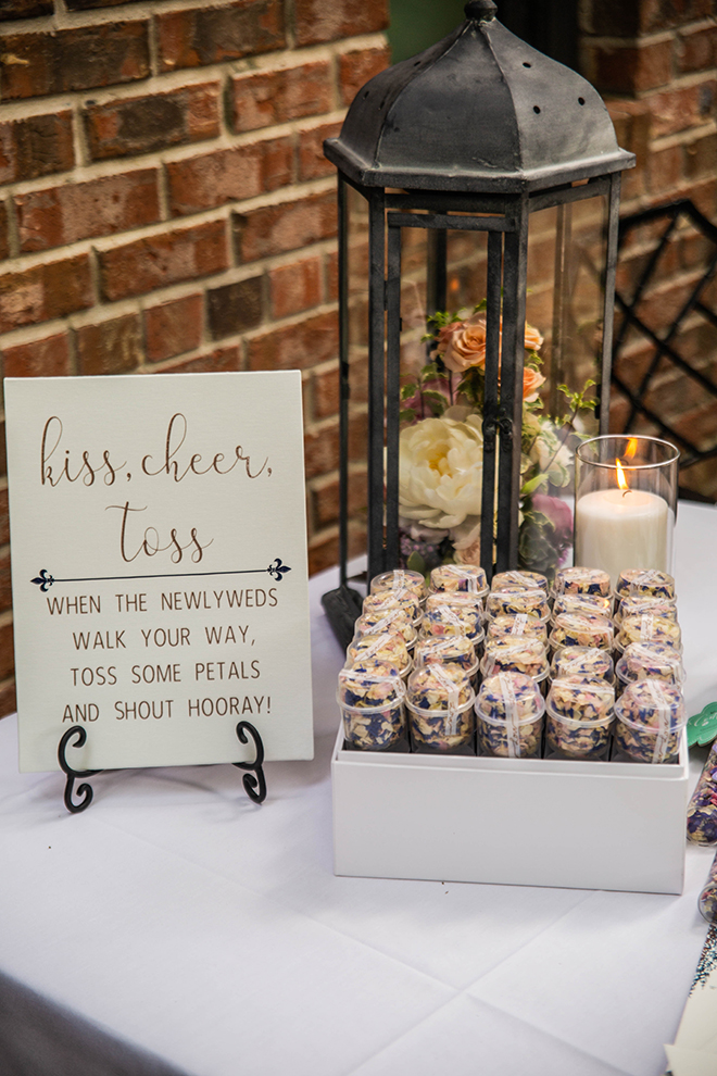 wedding favors, outdoor ceremony, petal toss, wedding decor