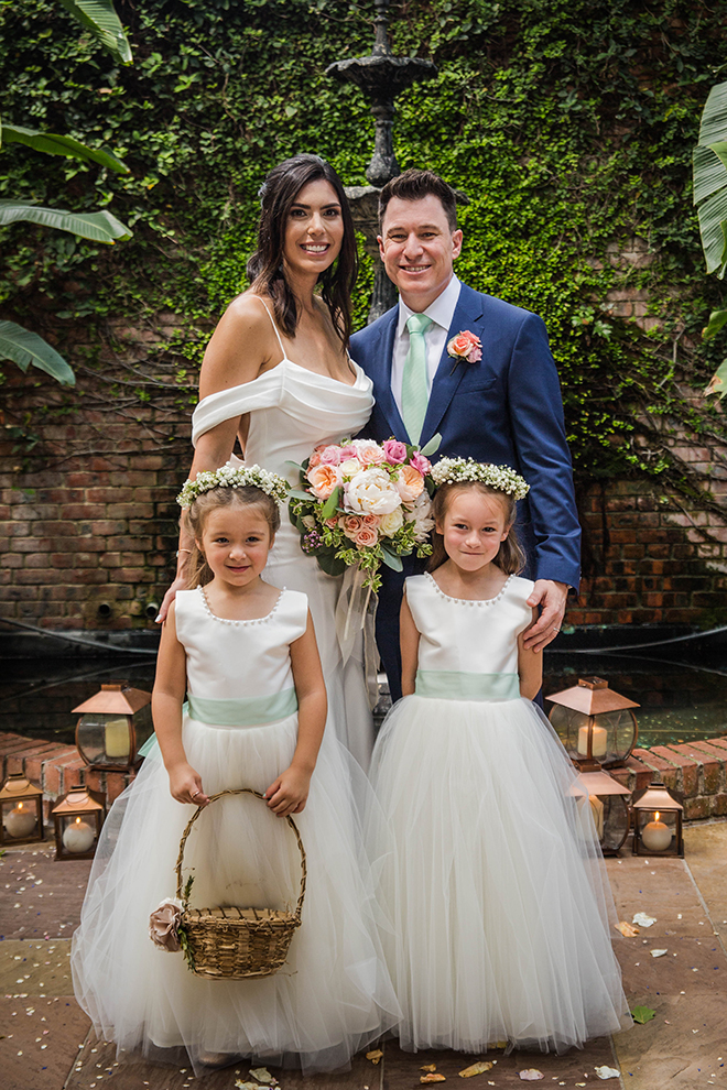 wedding photography, houston, blanca duran, flower girls, family portrait, wedding photographer