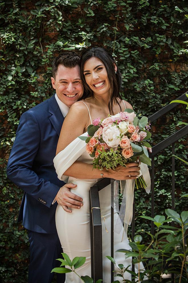 wedding photography, houston, blanca duran, bride, groom, brennan's of houston, courtyard
