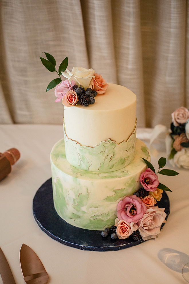 wedding cake, marble, two tier