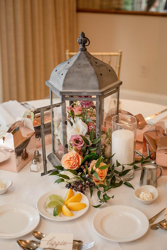brunch wedding, lantern, wedding centerpieces, wedding decor, reception decor