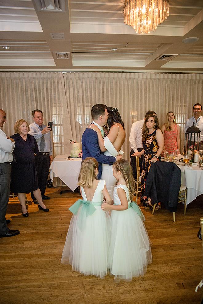 first dance, wedding, reception entertainment, flower girls, family