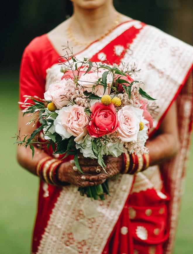 colorful, multicultural, wedding sari, bride, wedding photography, wedding bouquet, dream bouquet