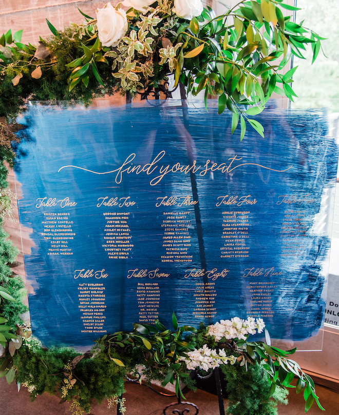 wedding signs, seating chart, lucite, painted, unqiue