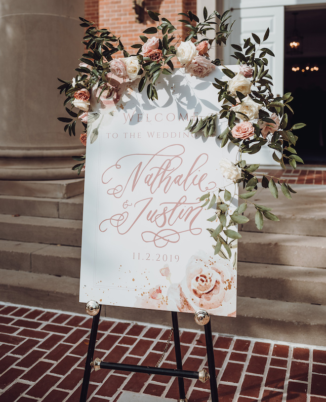 wedding signs, welcome sign, floral, romantic