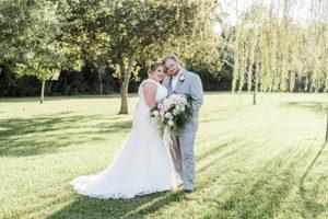 Blush, White And Burgundy Garden Wedding At Kemah Gardens