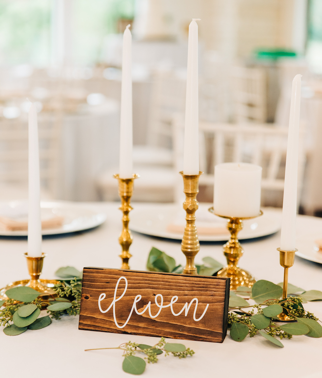 wedding signs, table numbers, woodblock, reception decor