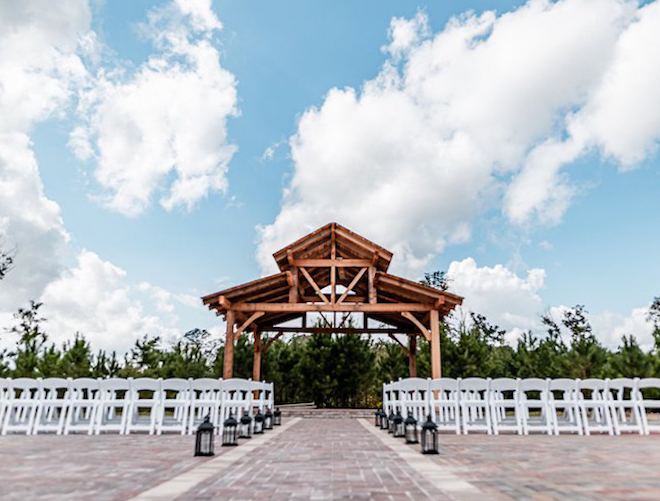 rustic wedding venue, outdoor ceremony, forest, gazebo, private, island, lake