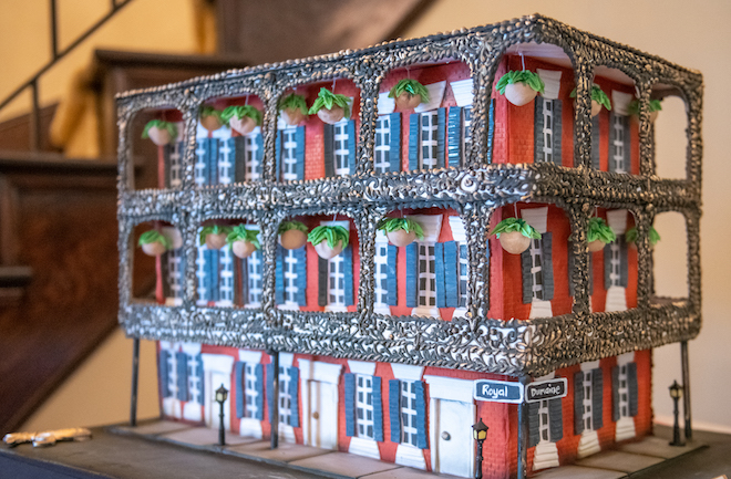 sculpted cake, groom's cake, Miltenberger House, new orleans, unique, custom, cake design, common bond
