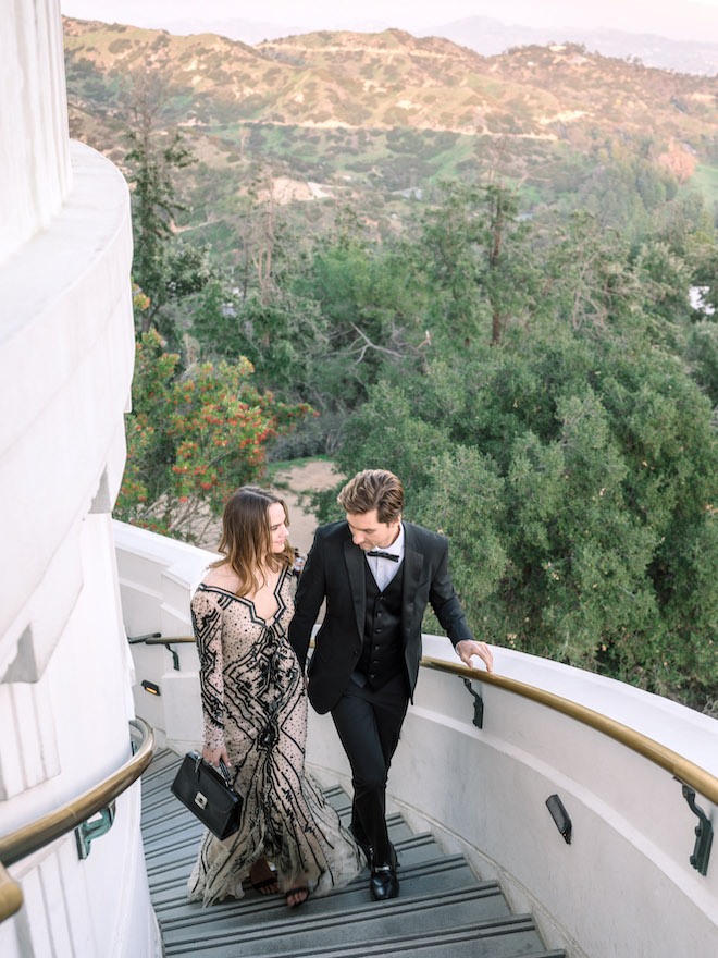 engagement editorial, Hollywood, California, engagement photography, wedding photographer, Stephania Campos, Griffith Observatory