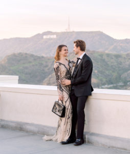 Glamorous Hollywood Engagement Editorial By Stephania Campos