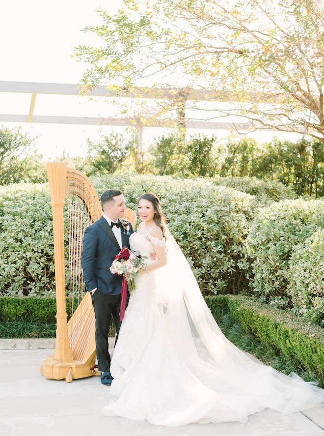 harp, ceremony music, wedding photography, houston wedding photographer, kate elizabeth photography