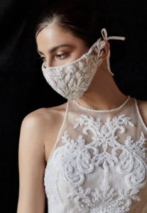 8 Beautiful AND Fashionable Bridal Face Masks For Your Wedding Day