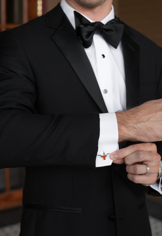 groom, accessories, cuff links, unique, alma mater, university, ut, university of texas