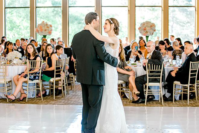reception entertainment, first dance, bride, groom