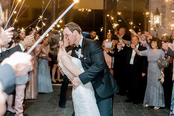 wedding sendoff, grand exit, sparklers, golden