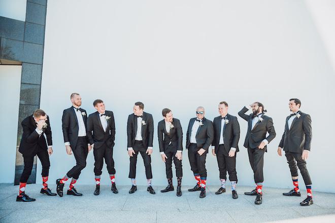 groomswear, college socks, alma mater, groom attire, groom, groomsmen