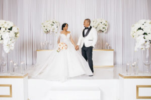 Ivory And Gold Glamorous Wedding At Bayou City Event Center