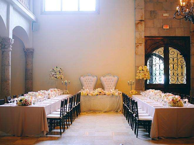 garden inspired wedding, wedding venue, the bell tower on 34th, wedding, photography, houston, photographer, civic photos, reception decor, ballroom, his her table, long tables, floral centerpieces