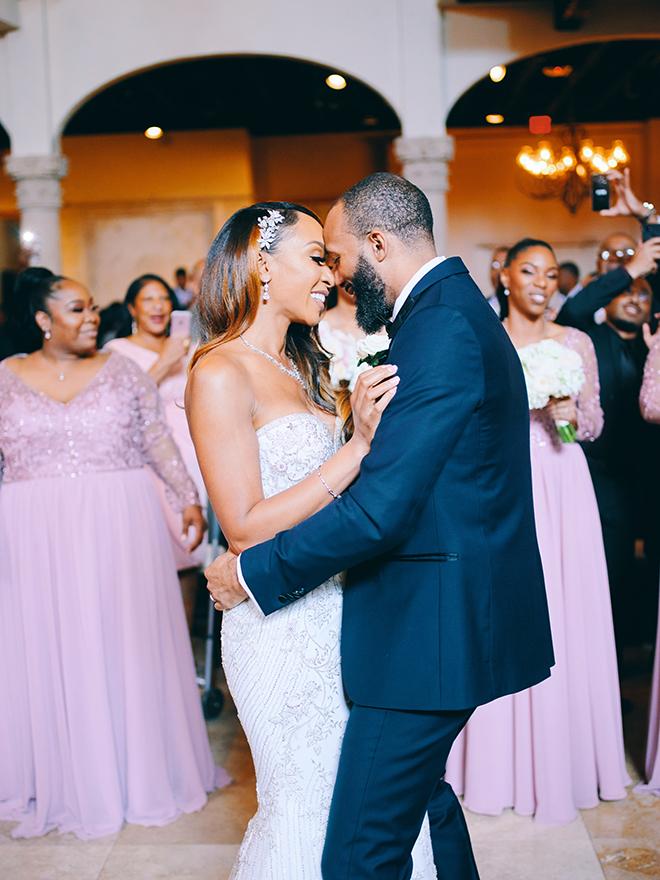 reception entertainment, first dance, bride, groom, civic photos