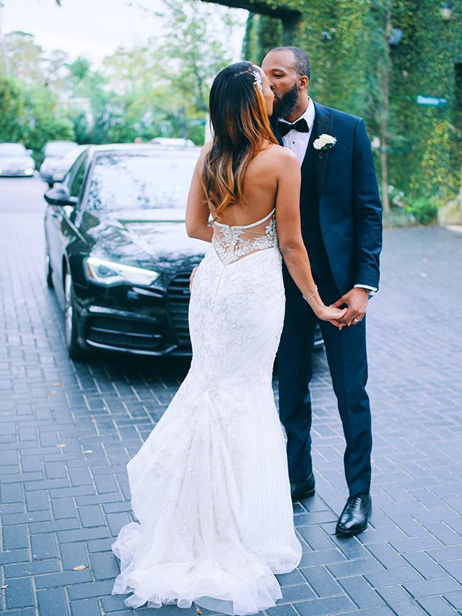 grand exit, wedding sendoff, bride, groom, wedding transportation, luxury car