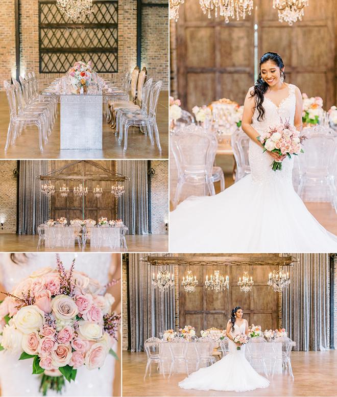simple, sophisticated, glam wedding, decor, flowers, royal luxury, iron manor, houston