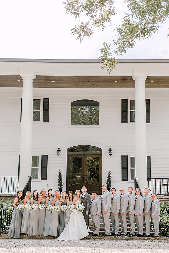 summer wedding, timeless, wedding party, wedding portraits, estates at pecan park, amy maddox photography