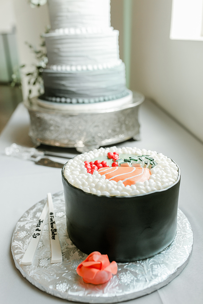groom's cake, sushi, sculpted cakes, unique, food lover