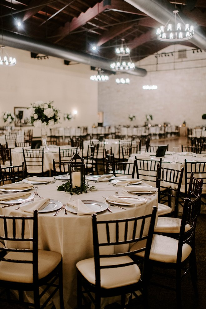reception decor, wedding, venue, elegant, simple, lanterns, black chiavari chairs, briscoe manor, sophisticated, rustic