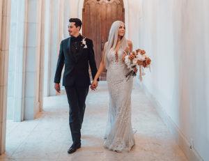 Black And Neutral Modern Wedding By Ama By Aisha