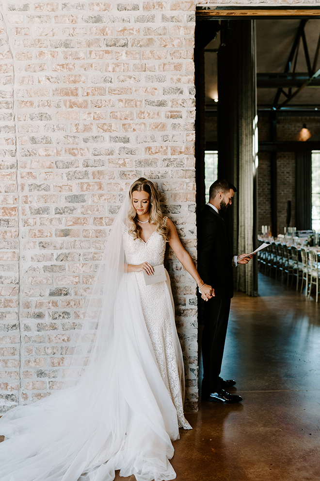 wedding photography, wedding moments, reading vows, intimate, private, first look, wedding dress, bridal gown, bride, groom, veil, emily figurelli photography