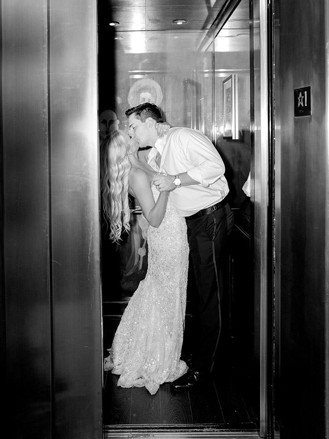 grand exit, elevator, sendoff, wedding moments, intimate, wedding photography, wedding photographer, houston, texas, stephania campos