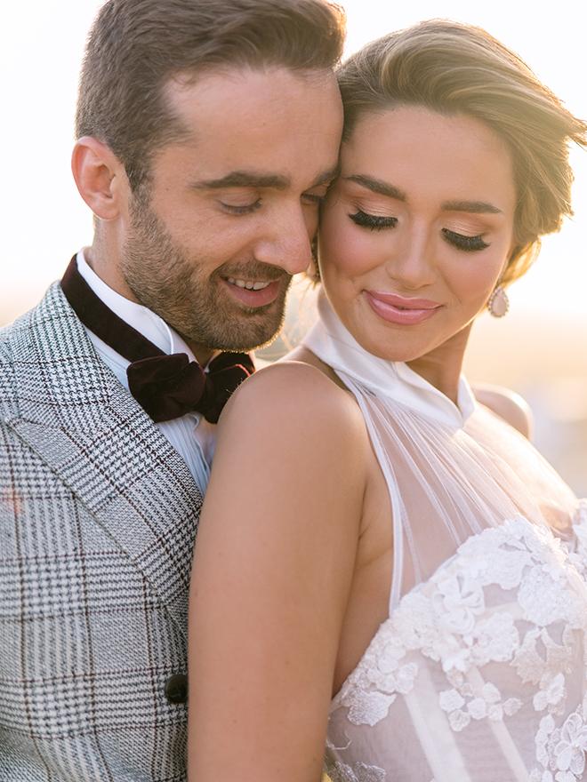 halter bridal gown, bride, groom, inspiration, stephania campos, post oak hotel, uptown, houston