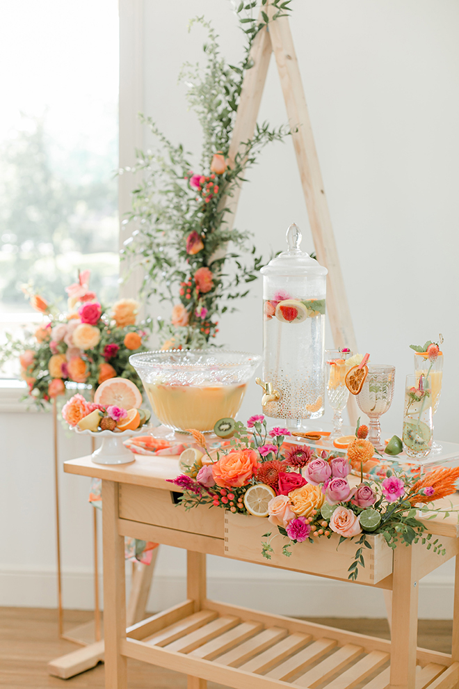 citrus themed wedding