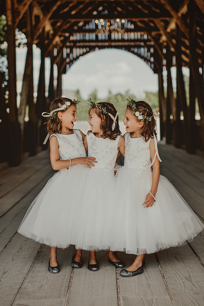 flower girls, cute, flower crown