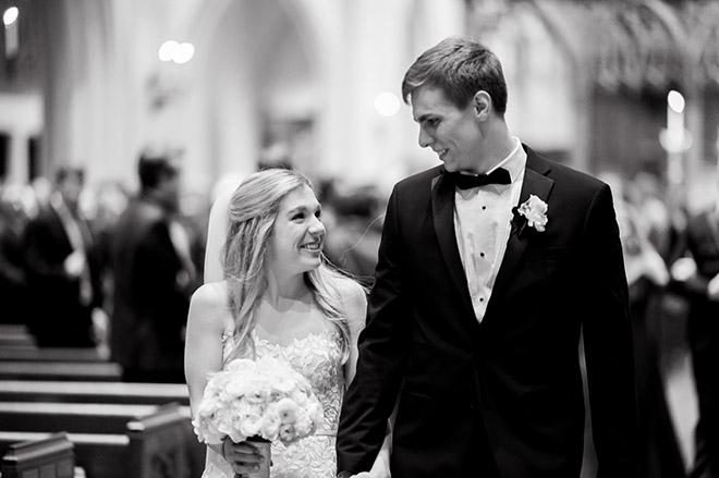 bride, groom, wedding photography, wedding photos, wedding photo ideas, couple's portrait, groomswear, black, bowtie, bridal bouquet