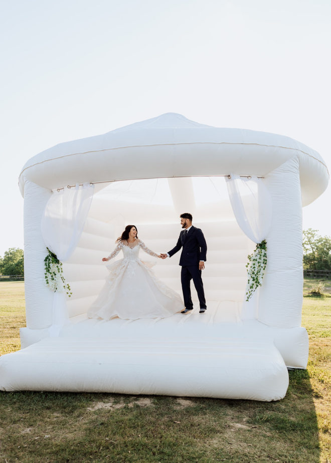 Palm Royal Villa, venue, bride, groom, tent, event, white, contemporary, greenery, outdoor, gown