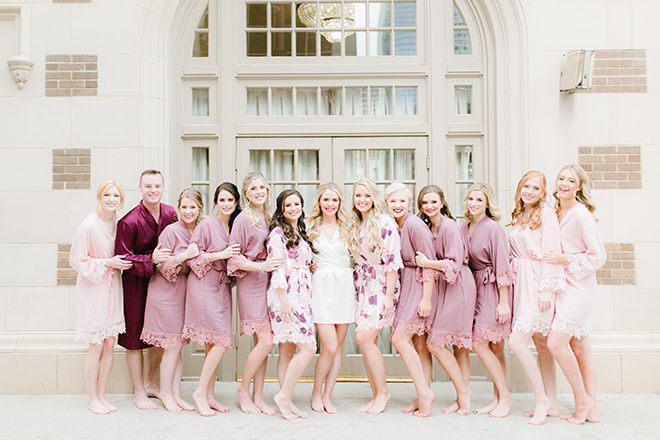 bridal party robes, Bridesman, bridesmaids, bride tribe, bridal party, getting ready, pink, blush