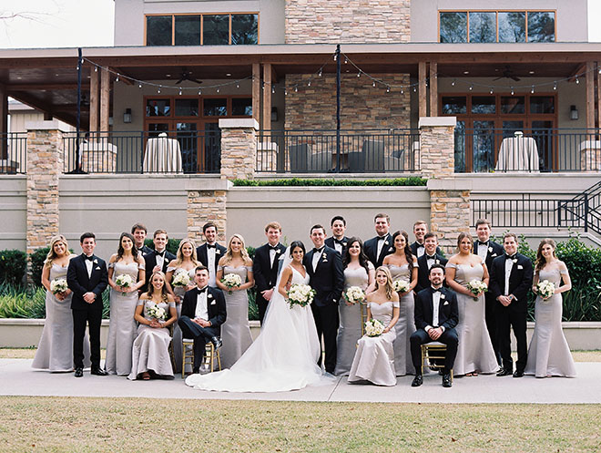Timeless And Elegant, group portrait, group picture, bridesmaids, groomsmen, bride and groom, bridal party