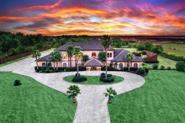 modern, villa, sunset, stucco, palm, acreage, contemporary, venue
